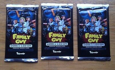 Family Guy Star Wars Card Packs x 3