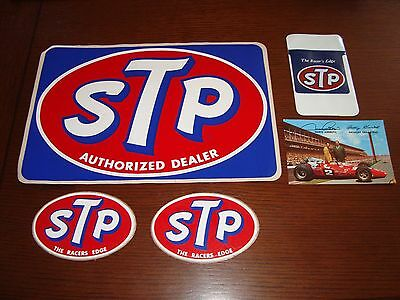 Vintage STP Racing stickers and marketing material INDY 500
