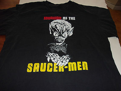 Invasion of the Saucermen X-LARGE horror t-shirt  VHS 50's monsters