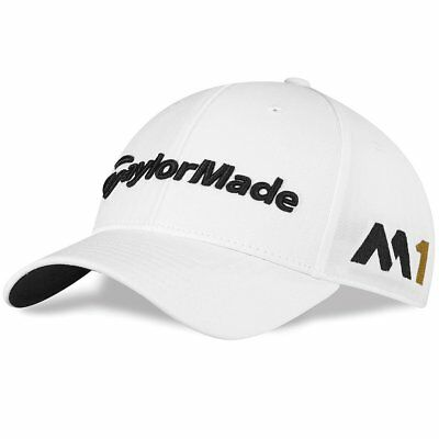 TaylorMade M1 Tour White Golf Cap with adjustable size rear tab
