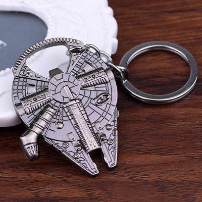 Star Wars Han Solo Movie Keychain Keyring Millennium Ship Barkey Bottle Opener