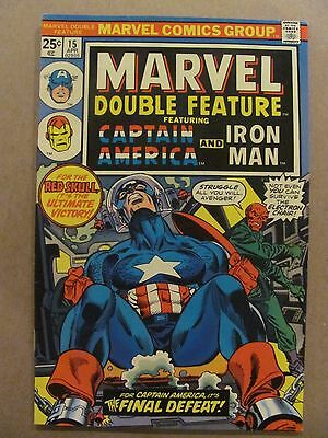 Marvel Double Feature #15 Marvel Comics 1973 Series Captain America Iron Man