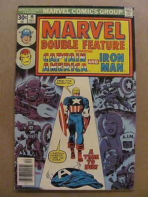 Marvel Double Feature #19 Marvel Comics 1973 Series Captain America Iron Man