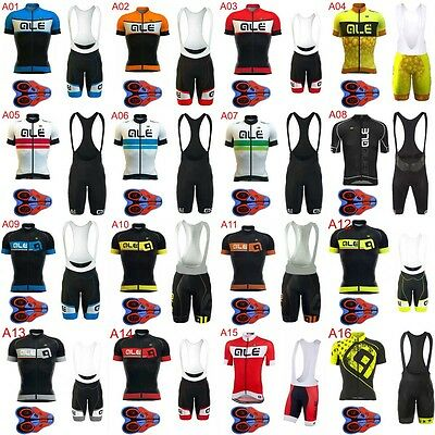 Bicycle 2017 Men cycling clothes cycling jersey MTB 9D Pad bib shorts set Z036
