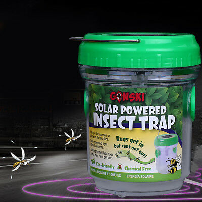Solar Mosquito Killer Repellent Pest Trap Zapper Handle Portable Outdoor