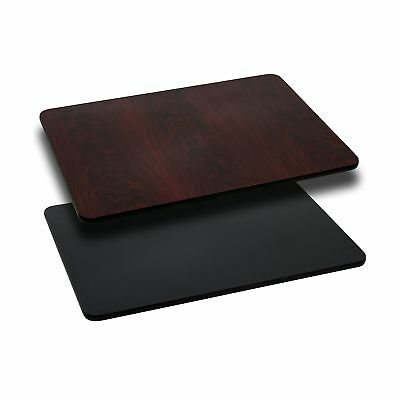 30'' x 48'' Rectangular Table Top with Black or Mahogany Reversible Laminate ...