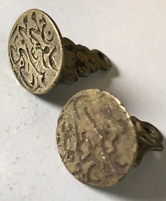 Antique Islamic Calligraphy OTTOMAN SEAL BRASS SEAL Lot Of Two Pieces