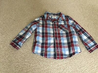 Boys Checked Shirt Size 9-12 Months