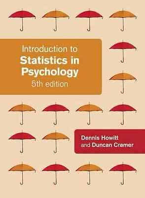 NEW - Introduction To Statistics In Psychology, 5th Edition