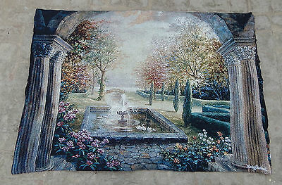 Vintage French Beautiful Scene Tapestry 123x87cm (A470)