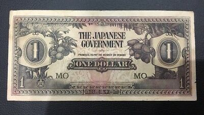 The Japanese  Government One Dollar note Rare