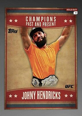 J HENDRICKS RED PAST AND PRESENT CHAMPION 100cc Topps UFC Knockout Digital Card
