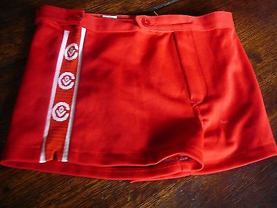 afl vfl cfl footy shorts white red size 32