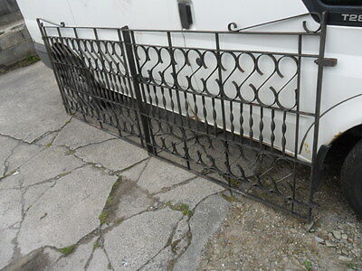 pair of old wrought iron entrance driveway gates 2 scroll top garden gates used