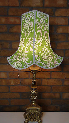 Green & White Damask Design Large Lampshade Chic Vintage Table Lamp Shade Yard