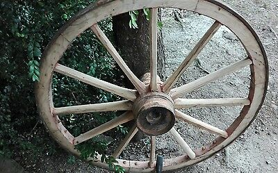 Vintage old wooden cart wagon wheel wheels 79cm Free Delivery