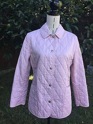 Authentic Burberry Pastel Pink Quilted Jacket Size S