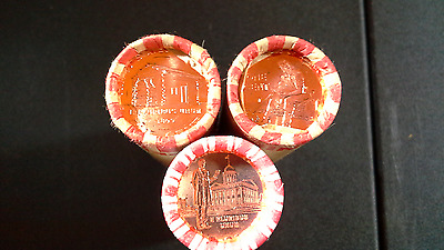 TWO ROLLS OF BU 2009 FORMATIVE YEARS  1P /& 1-D ROLL BANK WRAPPED PENNYS