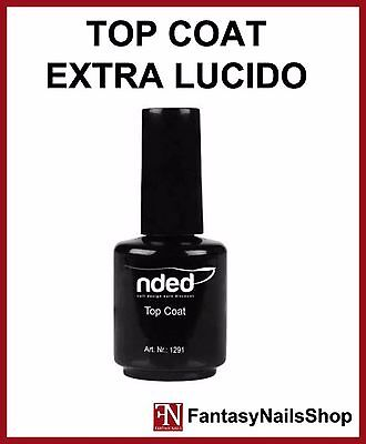 TOP COAT EXTRA LUCIDO  - smalto sigillante unghie NDED 15 ml - non è un gel uv