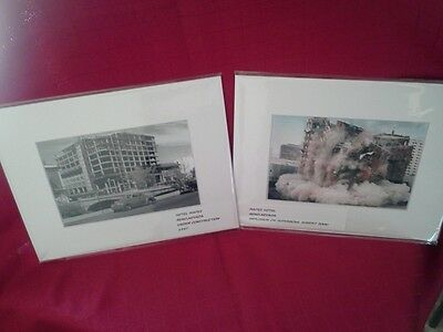 2 MAPES HOTEL-CASINO,RENO,NV  *1947 CONSTRUCTION-2000 IMPLOSION*   matted prints