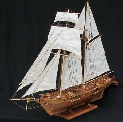 Wooden model Scale 1/96 Classics Antique sail boat HARVEY 1847 Assembly kit
