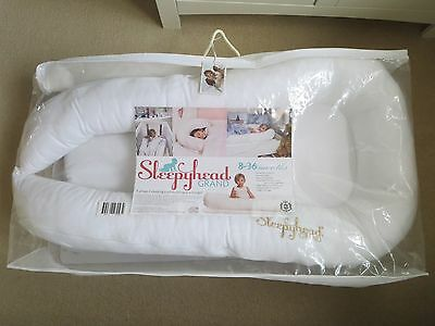 Sleepyhead Grand 8-36 Months - White. Excellent Condition (used 3-4 times).