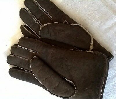 Vintage Ladies Sheepskin Gloves