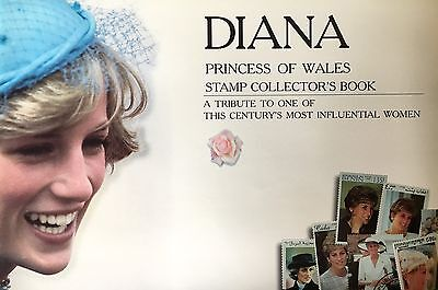 Princess Diana Stamp Collection- 50 stamps, hinges plus an a5 album by Renniks.