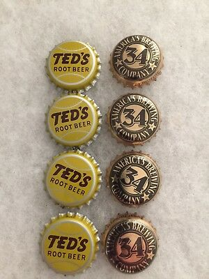Ted's Root Beer Caps & Walter Payton Beer Caps