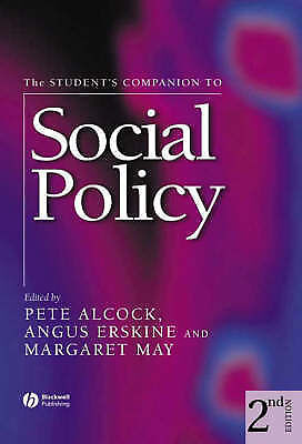 The Student's Companion to Social Policy by John Wiley and Sons Ltd (Paperback,