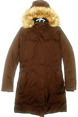 NWOT WOMEN'S ARCTIC GOOSE DOWN PARKA HOODED with REMOVABLE FAUX FUR COLLAR-M