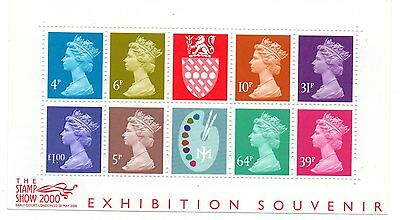 GB 2000 Stamp Show Exhibition Souvenir Matthews Palette mini miniature sheet MNH