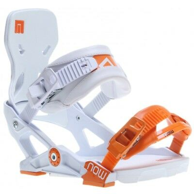 Attacco Snowboard Now Ipo White/orange