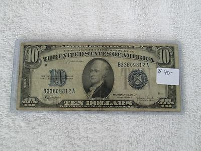 United States 1934C  $10 Silver Certificate Blue Seal!!!!!!!!!nice