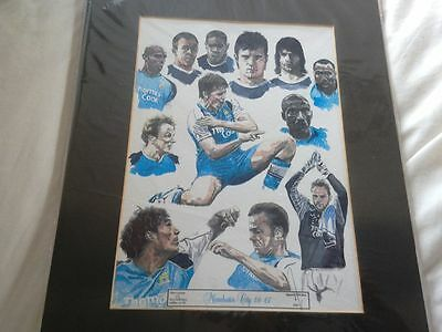 """Limited Edition Signed David Walker """" MANCHESTER CITY 06 07 """" Print"""