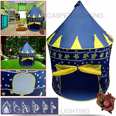Childrens Girls Kids Pop Up Castle Play Tent Play House Indoor Outdoor Garden UK