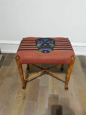 Antique Vintage Stool - Dressing Table / Piano Stool / Side Seat