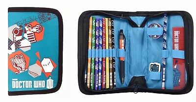 BBC Doctor Who Blue And Orange 13 Piece Filled Pencil Case With Stationary Set S