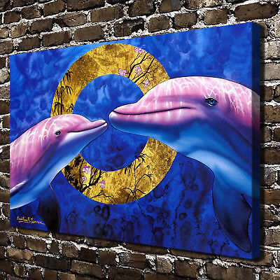 Eternal Love Dolphins HD Canvas Print Home Decor Paintings Wall Art Picture