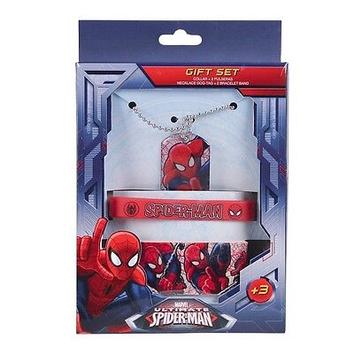 Marvel Accessoires Set 3 tlg. Halskette Armband Rubberband Spiderman