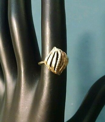 Vintage Antique 14k Gold fancy design ring sz 5 estate find