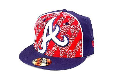 NEW ERA MLB ATLANTA BRAVES 59FIFTY KIDS CAP NAVY SIZE 6+3/4  (53.9cm)