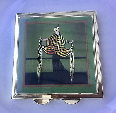 Art deco style trinket box in green collectable for Style retro deco