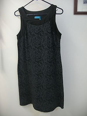 Ladies Fresh Produce Dress - Sleeveless Black and Gray - Size S