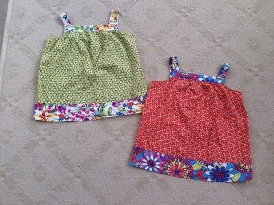 Hanna Andersson Lot Tunic Tank Tops Girls 150 (12y) 2 Pc