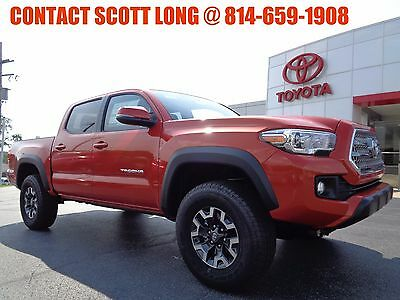 2017 Toyota Tacoma New 2017 Double Cab 4x4 3.5L Inferno New 2017 Tacoma Double Cab TRD Off Road 4x4 Navigation Inferno V6 Tow Package