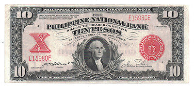 Philippines - Series of 1937 10 Pesos Banknote