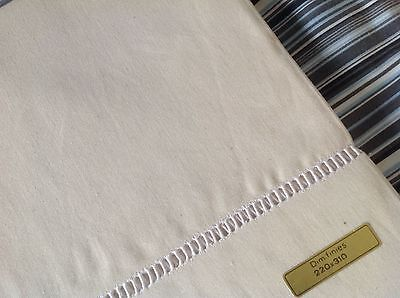 UNUSED LARGE FRENCH LINEN METIS SHEET,  Fleur Bleue 752 High quality fabric.