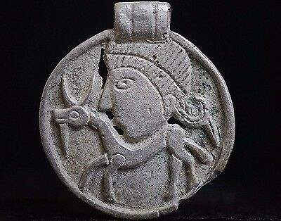 Ancient Viking Silver Amulet depicting Norse Horseman Warrior, circa 950-1000 AD