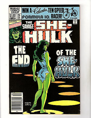 The Savage She-Hulk #25 (1982, Marvel) FN+ Final Issue! Double-Sized Finale